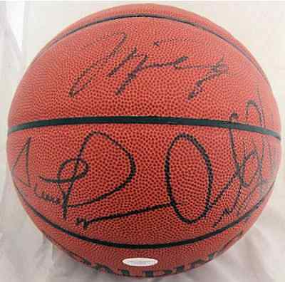 Michael Jordan Scottie Pippen Dennis Rodman Chicago Bulls Autographed Basketball