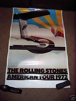 original 1972 rolling stones concert tour poster