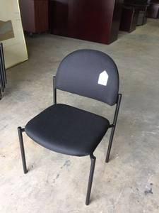 New Black Stackable Chair