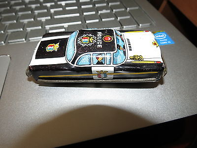 Vintage Tin Litho POLICE  Men Car