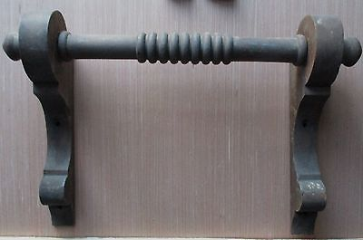LARGE VICTORIAN WALNUT PUMP ORGAN HANDLE / TOWEL HOLDER
