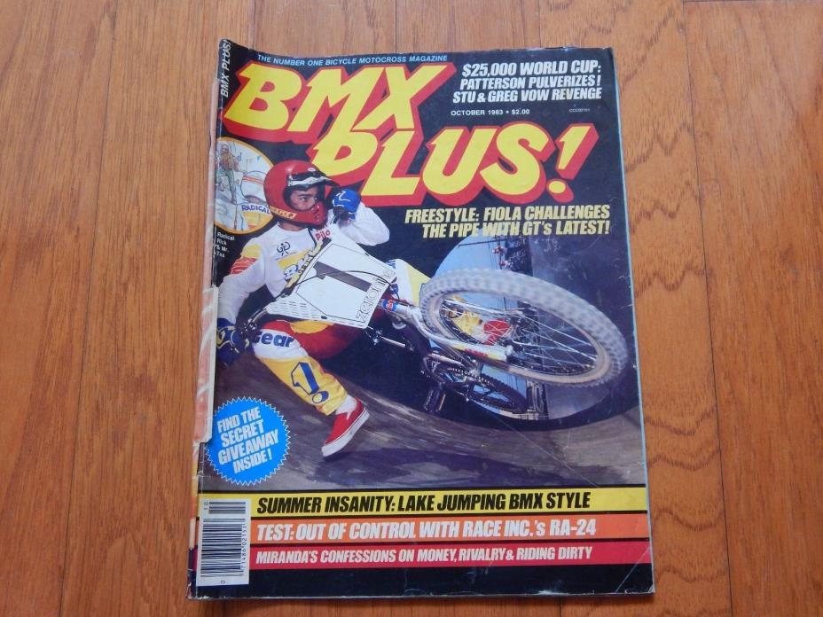 BMX Plus Magazine, October 1983 - Vintage 1980s BMX
