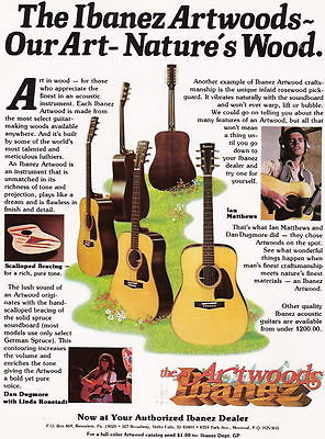 1980 OUR ART NATURES WOOD IBANEZ ARTWOODS ACOUSTIC GUITARS AD