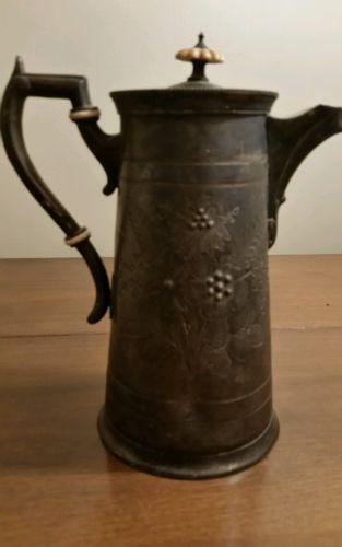 Antique Pewter Hammond, Creake, and Co. Teapot