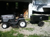 Sears Craftsman Garden Tractor HD and tow cart