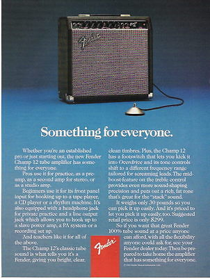 1987 SOMETHING FOR EVERYONE FENDER AMP AD