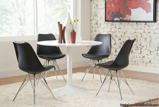 5 PCS Round Dining Table Set -Mid Century Style