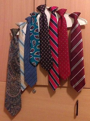 Lot of 8 Boy Boys Ties Different sizes ages 4 to 12 very good condition