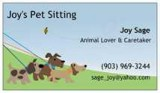 Pet Sitting - overnight stays - vacations