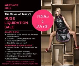 Salon Liquidation! Product, Color, Furniture, Appliances, Decor