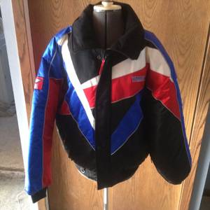 Men's Yamaha Cold Weather Gear 1990's Snowmobile/ Cycle Jacket Size L (lino