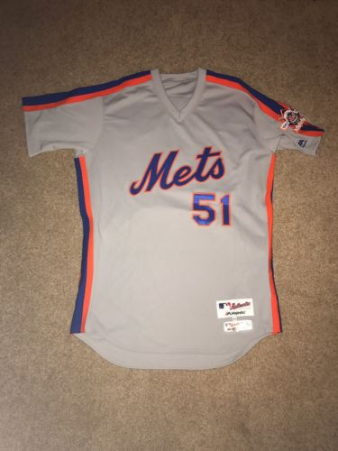 Jim Henderson 2016 Team Issued NY Mets 1986 Road Throwback Jersey - Patch - MLB