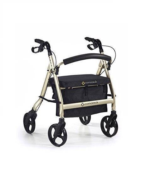 Comodita Rolling Walker with Seat, Extra Wide