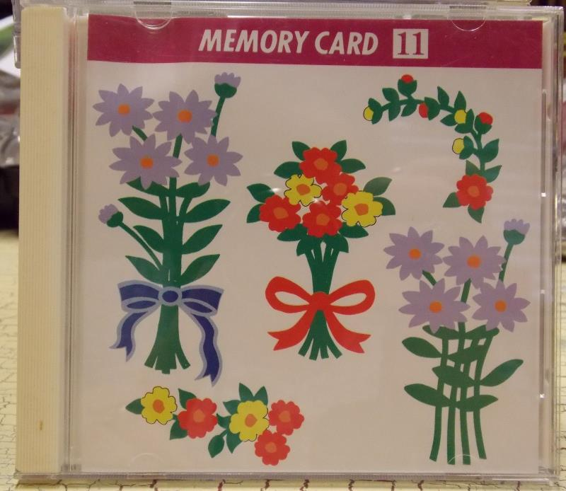 Janome Embroidery Memory Card #11 - Floral Designs