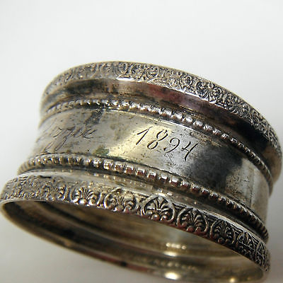 1894 Antique Sterling Silver Napkin Ring