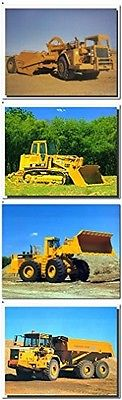 Caterpillar Dozer Construction Vehicles Four Set Wall Decor Picture (8x10)