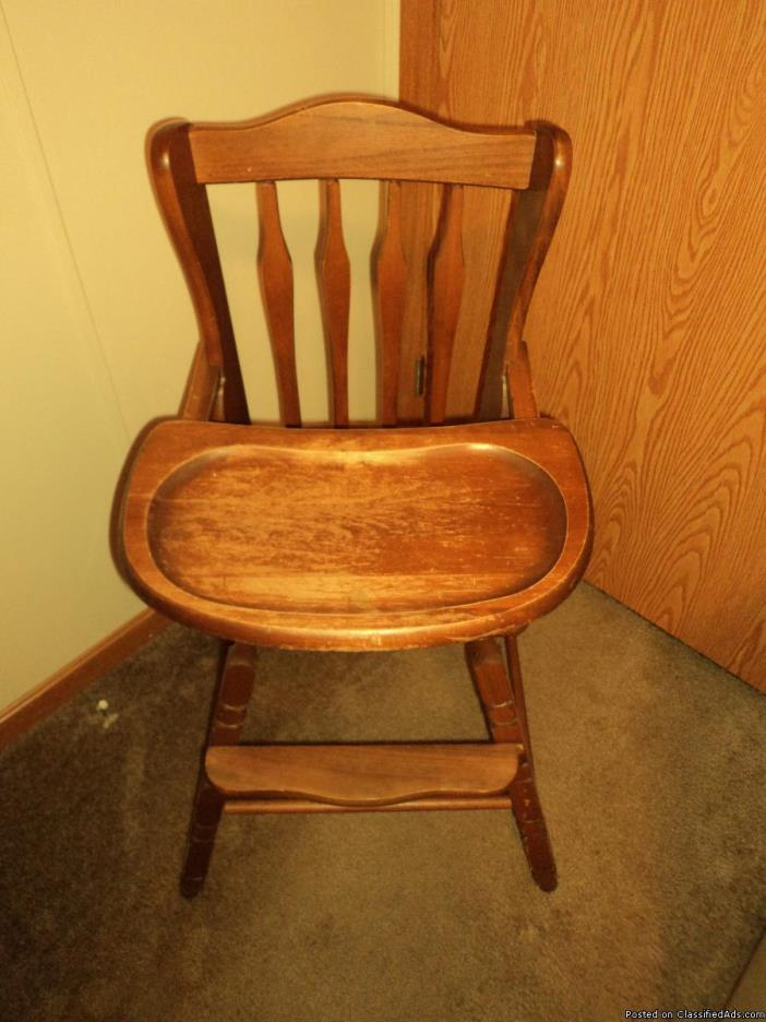 baby wooden high chair for sale classifieds. Black Bedroom Furniture Sets. Home Design Ideas