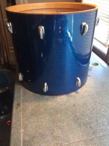 Vintage 1963 Slingerland Blue Glass Glitter Sparkle 18