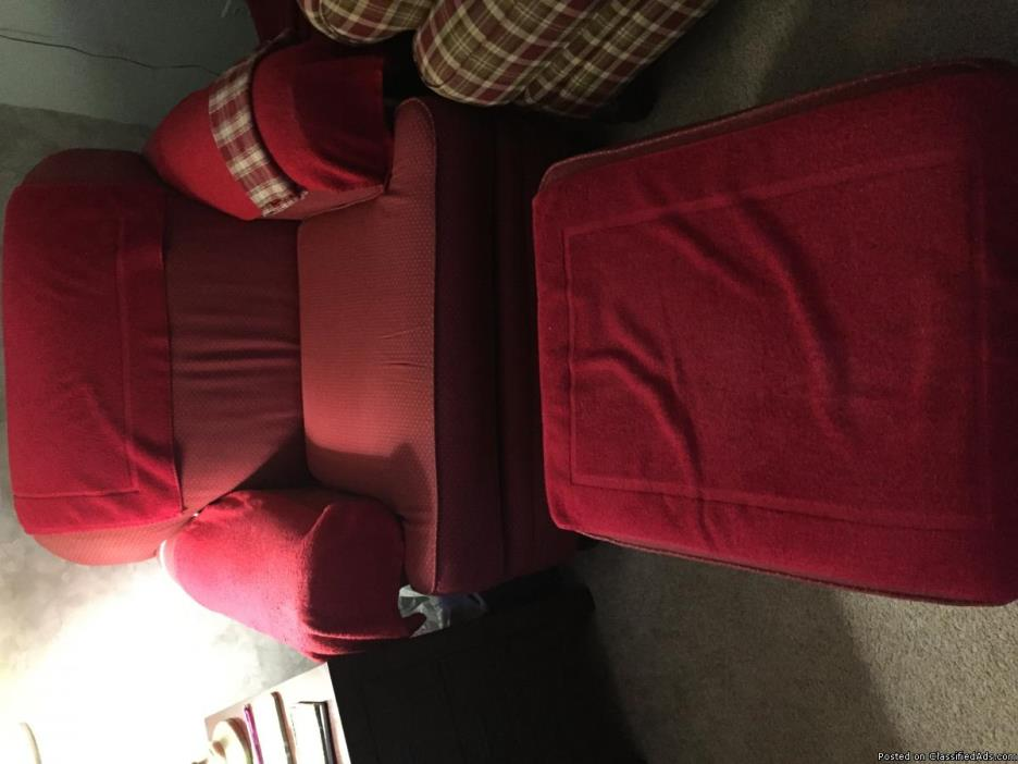2 large chairs ,ottomans,couch