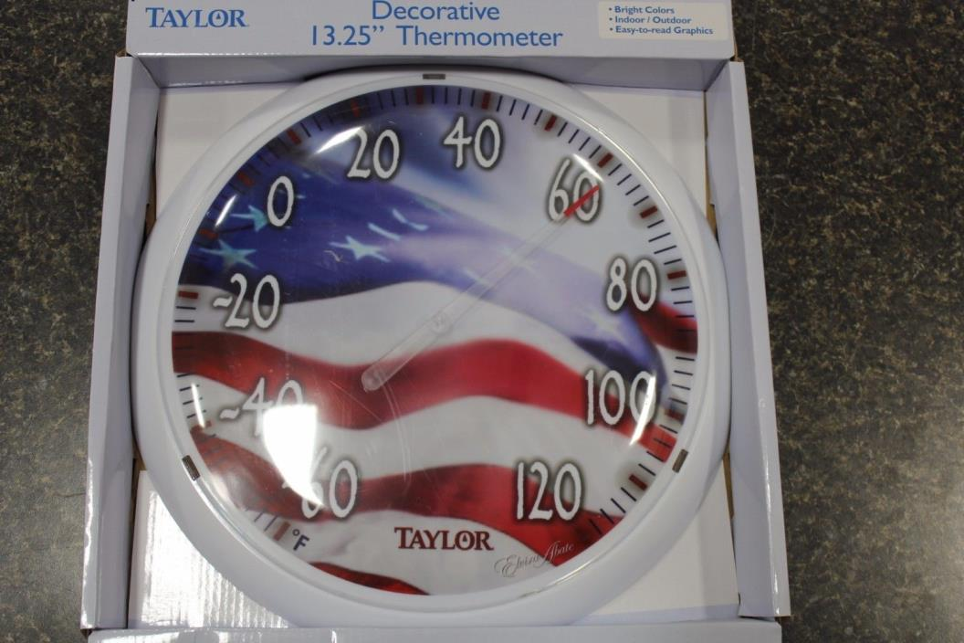 NEW 6729 TAYLOR DECORATIVE THERMOMETER 13.25