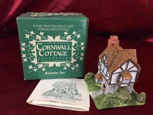 Cornwall Cottage 'Welcome Inn' Holiday Collectible 1987 BH12