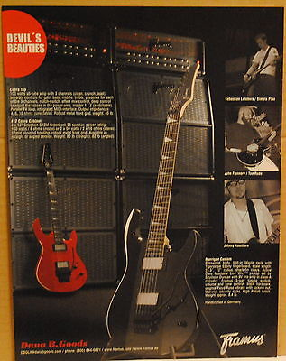 2007 Framus Morrigan Custom guitar and Cobra guitar amplifier print ad