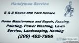 B and B House and Yard Handyman Service