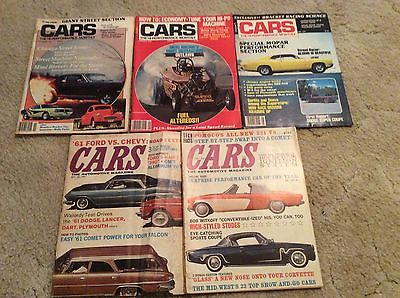 Cars- The HiPerformance Monthly/The Automotive Magazine Lot of 5 1960,62 1977-78