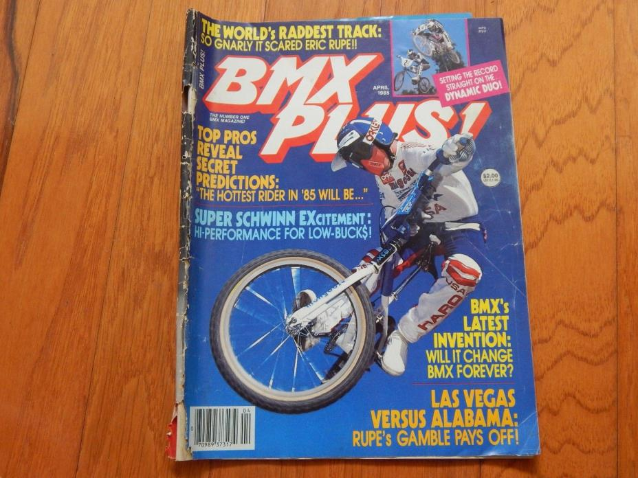 BMX Plus Magazine, April 1985 - Vintage 1980s BMX