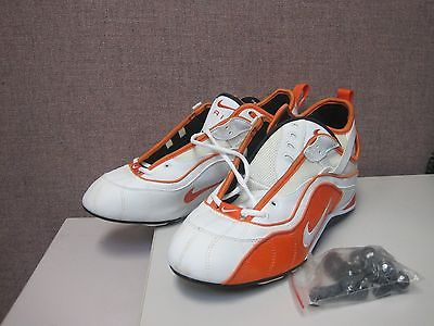 Nike Zoom Speed TR Football Cleats White/Orange Size 13.5 416037011 H163