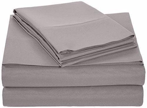 Best Seller AmazonBasics Microfiber Sheet Set - Queen, Dark Grey