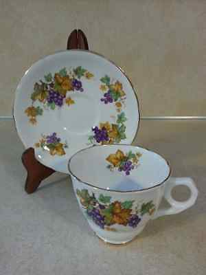 ROYAL STAFFORD Cup And Saucer Oregon Grape Pattern Teacup