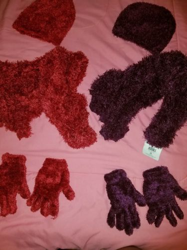 hats, gloves and scarf