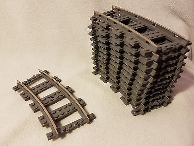 Lego Train 9V Train Track Rails Set 12 Curved