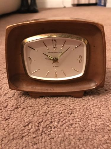 Phinney Walker Travel Alarm Clock Wind Up Germany Vintage