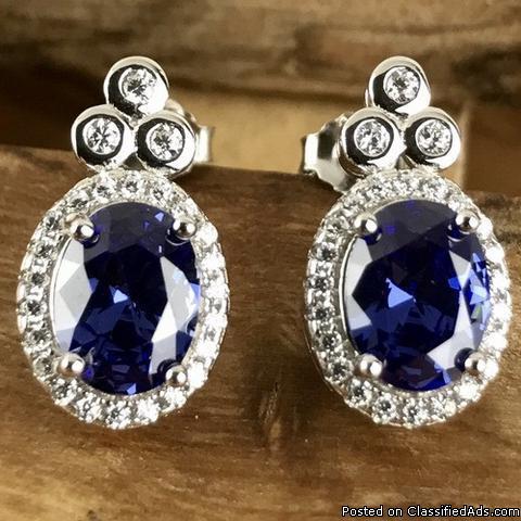 Earrings | Vintage Inspired Earrings | vintage sapphire earrings