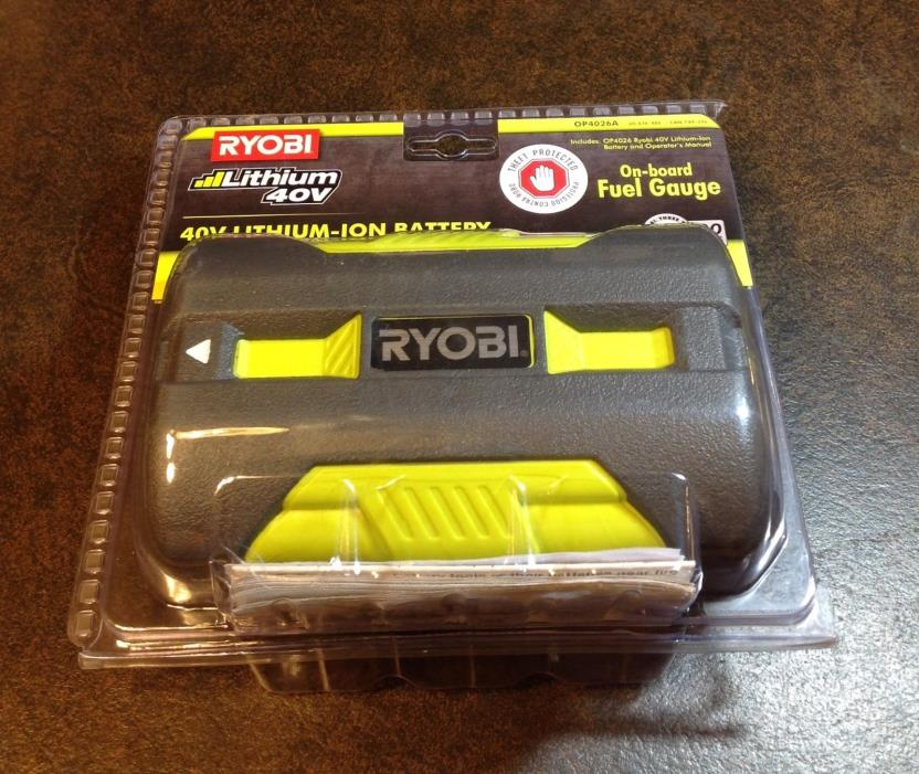 RYOBI 40V High Capacity Lithium-Ion Battery OP4026A Brand New - Factory Sealed