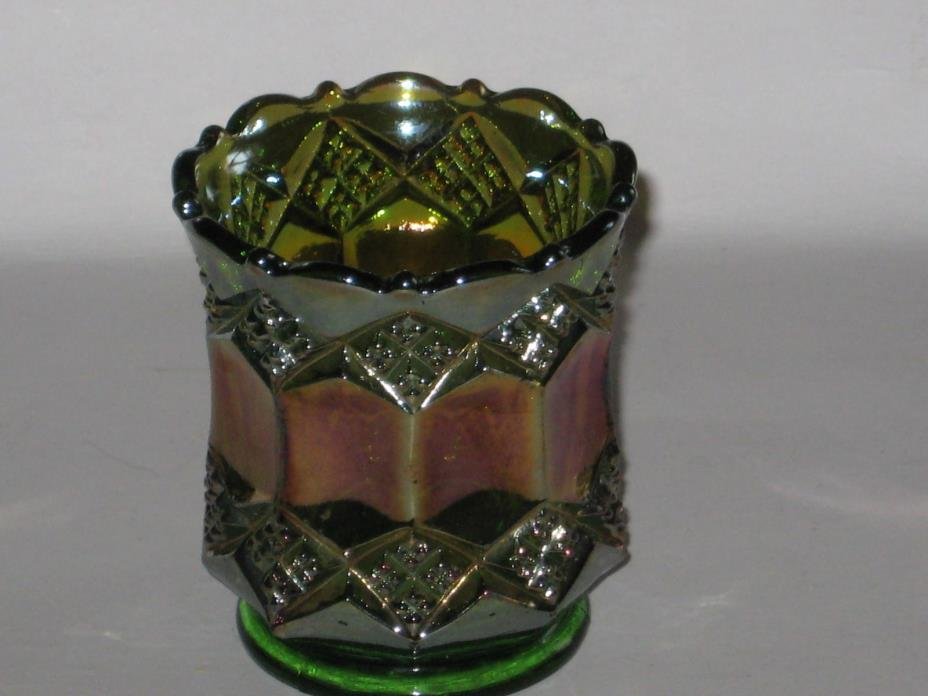 Vintage Imperial Glass Carnival Glass Toothpick Holder