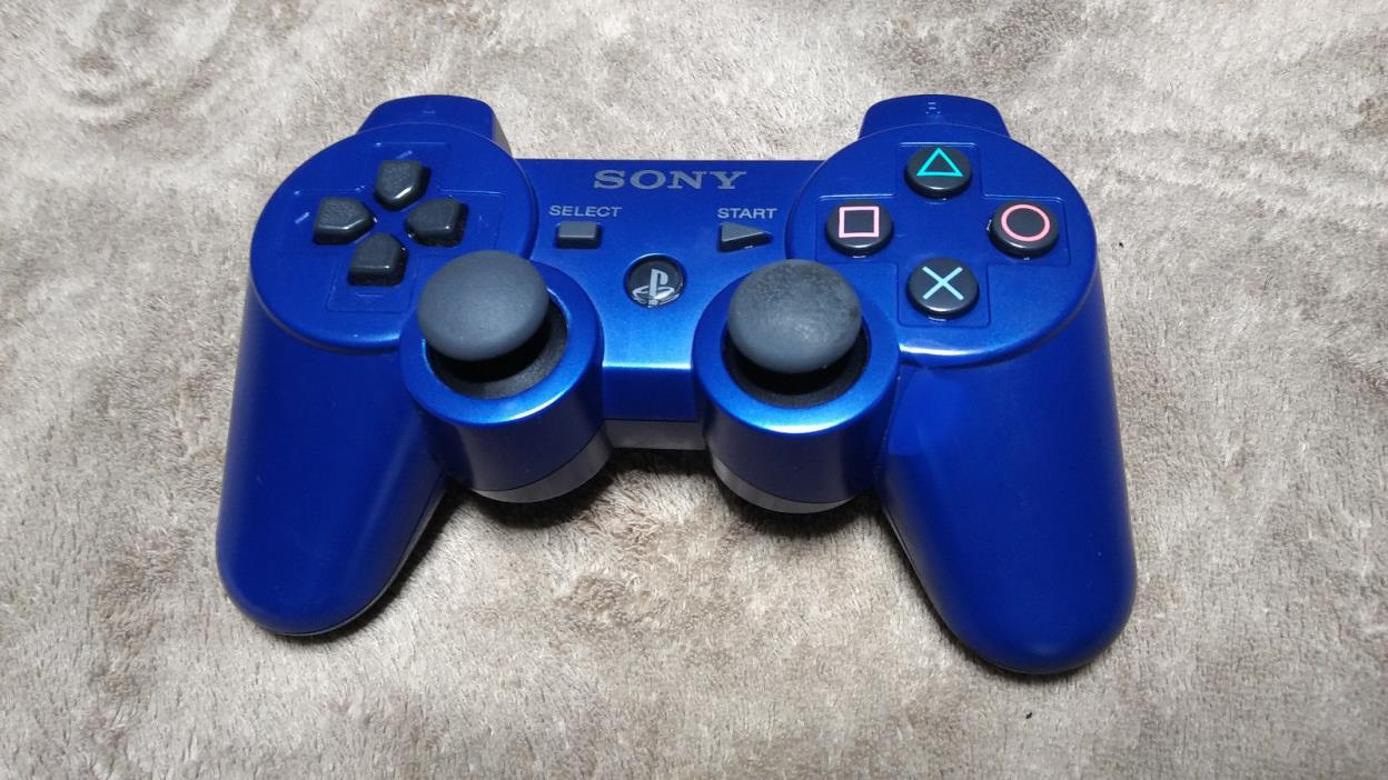 Original Sony PS3 Blue Wireless Dualshock Controller