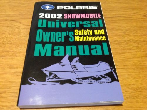 2002 Polaris Snowmobile Universal Owners Safety And Maintenance Manual