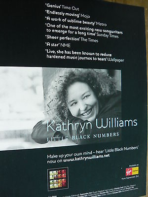 KATHRYN WILLIAMS - MAGAZINE CUTTING (FULL PAGE ADVERT) (REF T17)
