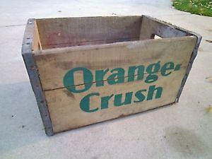 Vintage AWESOME ORANGE CRUSH SODA WOOD CRATE!!!