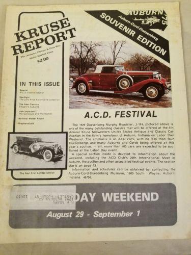 Kruse Report Summer 1975 Souvenir Edition Auburn-Cord-Duesenberg Festival