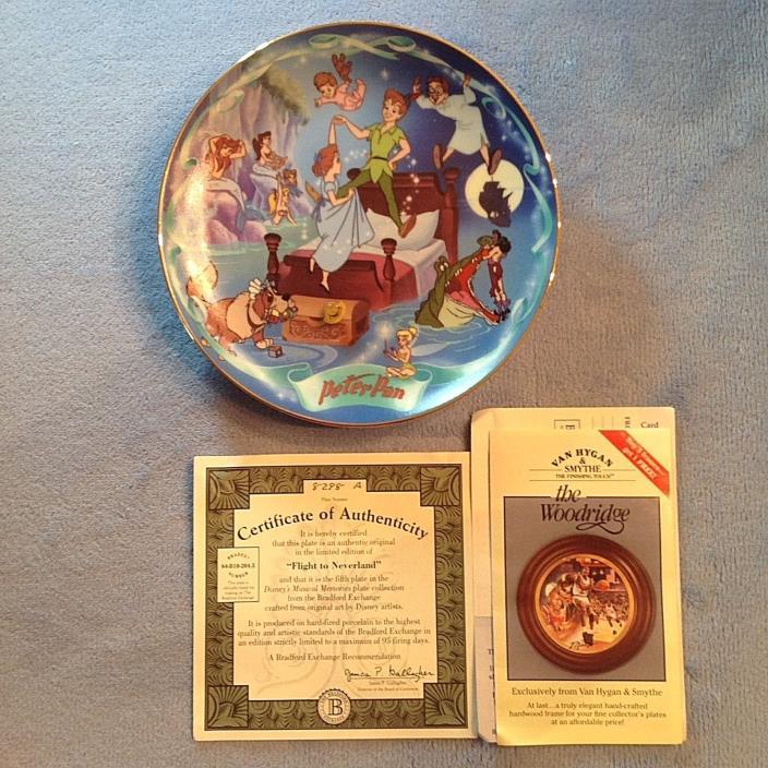 Walt Disney Bradford Exchange Registered Peter Pan Musical Plate