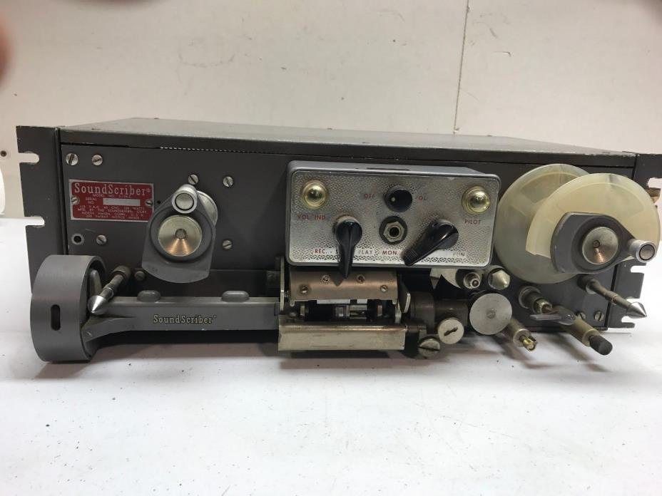 VINTAGE Sound Scriber S-124-C Tape Recorder Reproducer