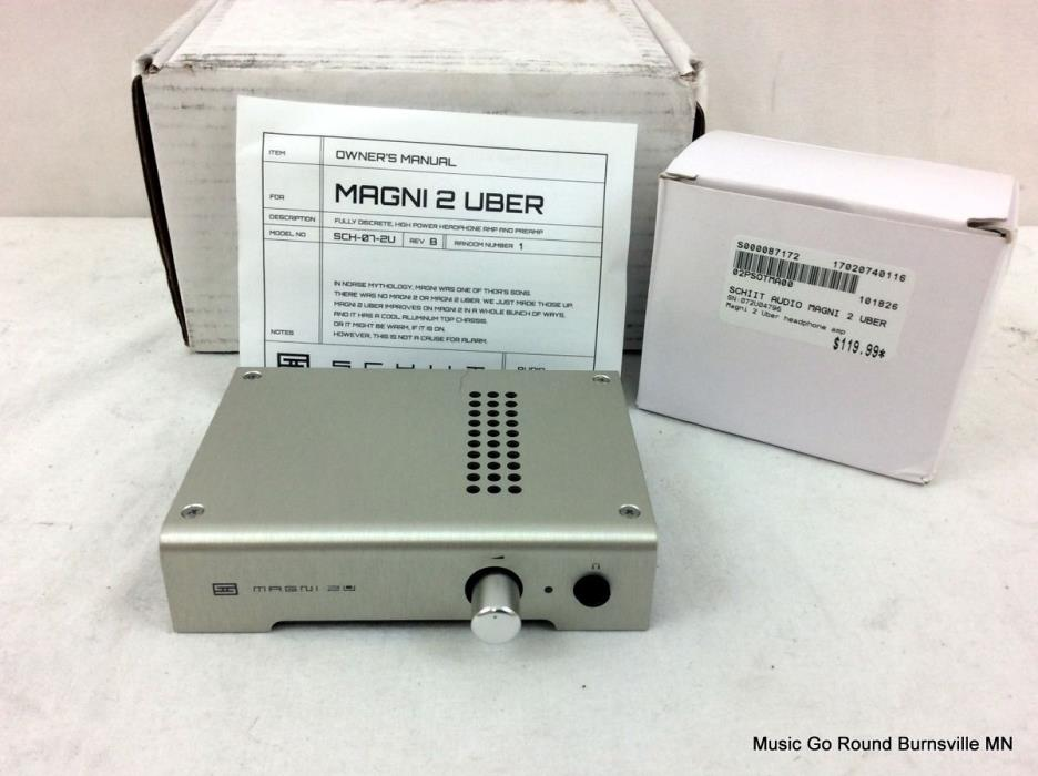 Schiit Audio Magni 2 Uber High Powered Audiophile Headphone Amp Preamp.