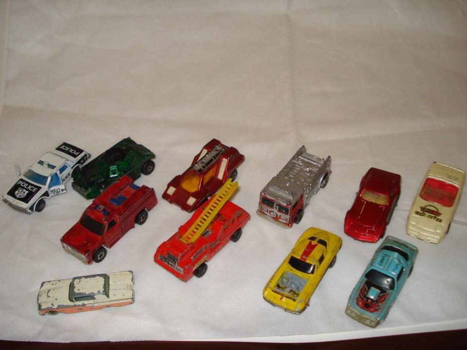 Vintage Lesney, Diecast, MatchBox, Hot Wheels Cars and Trucks, Lot of Eleven