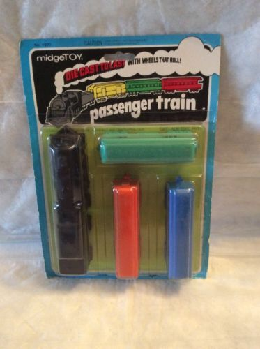 Midgetoy King of the Rails Passenger Train Steam Engine Set! Never Opened