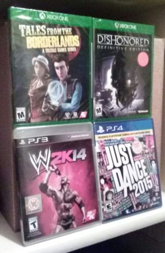 x4 video game lot ALL NEW & SEALED PS3 PS4 XBOX ONE Dishonored Borderlands DANCE