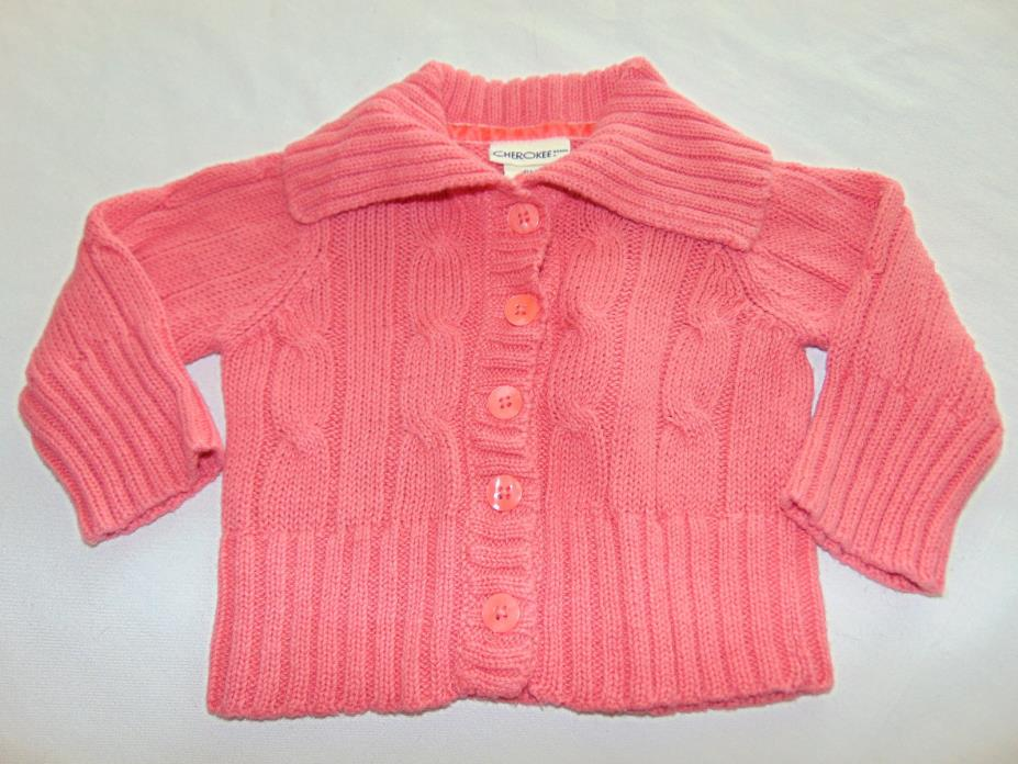 Toddler baby girl Cherokee Cardigan Sweater Sz 6 Months